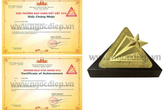 Ngoc Diep Group has become one of the top 100 Vietnam Gold Star Award 2018