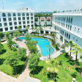 Cửa nhôm NGOCDIEPWINDOW tạo nên vẻ đẹp đẳng cấp 5 sao của khách sạn Silk Path Huế
