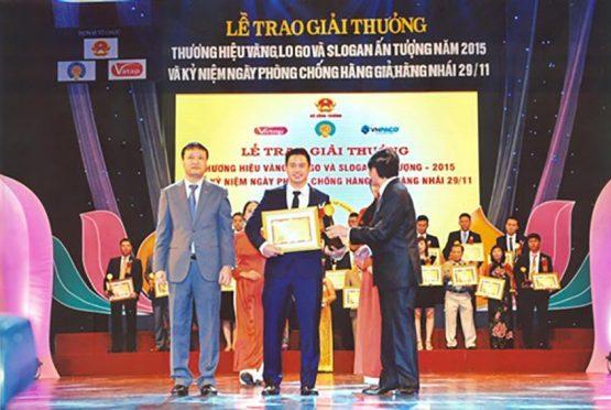 """Công ty TNHH Thương mại và Sản xuất Ngọc Diệp vinh dự nằm trong top 25 """"Thưong hiệu vàng – Logo và Slogan ấn tượng năm 2015"""""""