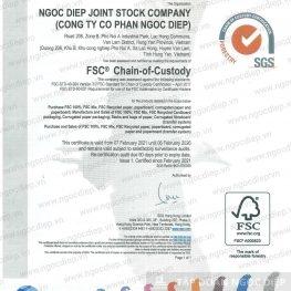 Bao bì Ngọc Diệp đạt chứng nhận chuỗi hành trình sản phẩm FSC®-COC