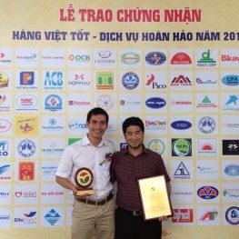 Ngọc Diệp đạt giải Hàng Việt tốt 2014
