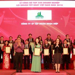 Tập đoàn Ngọc Diệp lọt top 500 Doanh nghiệp lớn nhất Việt Nam