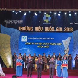 Tập đoàn Ngọc Diệp đạt giải Thương hiệu Quốc gia 2018