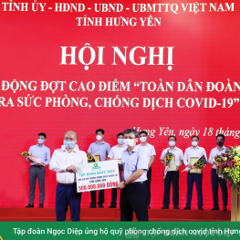 Ngoc Diep Group supports the Covid-19 Prevention Fund of Hung Yen Province